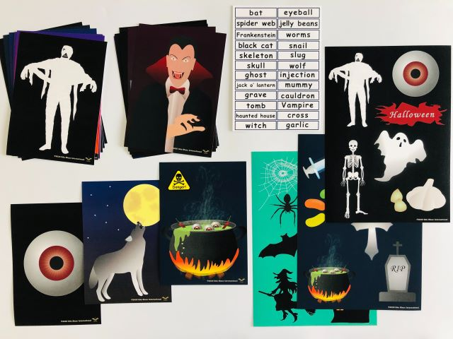pic card_Halloween_A5A4_laminated