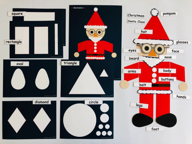 pic cards_Shapes-Santa